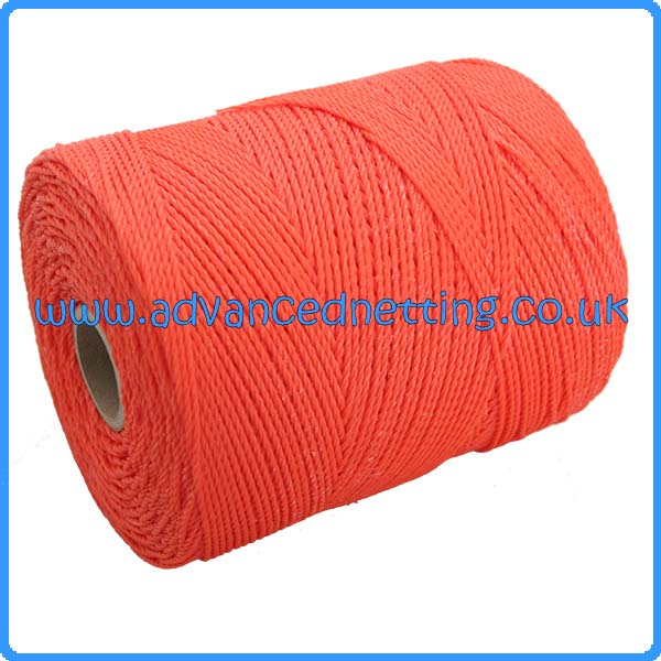 10/39 Orange Twisted PE Twine (1 kilo Spools)